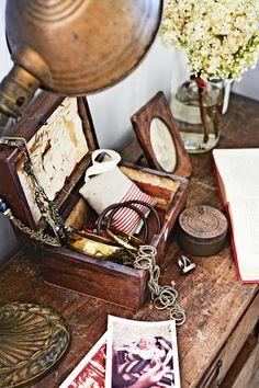 jewellery box timber vintage
