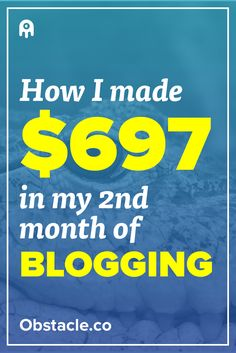 It can take a while to make money with a blog, but I was fortunate to make $697 in just my 2nd month blogging. In this post I detail how you can get a jumpstart with making money with a blog.