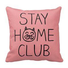 Stay Home Club Cat Polka Dots