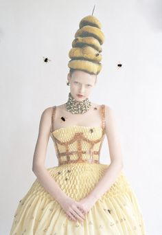 Elza Luijendijk wears Alexander McQueen in 'High Mighty' by Tim Walker for Vogue US, March 2013.