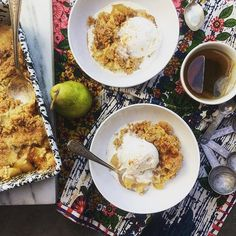Burnt Butter Pear Ginger Crumble - Shutterbean