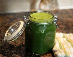 Green Juice in a jar — love it.