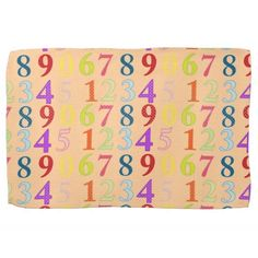 Numerals Hand Towels #Numerals #Numbers #Towel