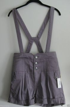New R.P.S Addict Women's Suspender Shorts s Size 4 lederhosen purple bibs ladies