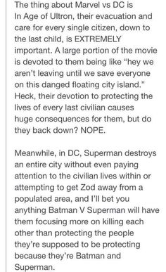 I mean if you like DC that's fine, you do you. But I do have to agree with this.