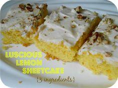Luscious Lemon Sheet Cake
