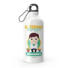 Termo - El termo del mejor nutricionista, encuentra este producto en nuestra tienda online y personalízalo con un nombre. Water Bottle, Drinks, Funny, Dietitian, Carton Box, Store, Crates, Drinking, Beverages