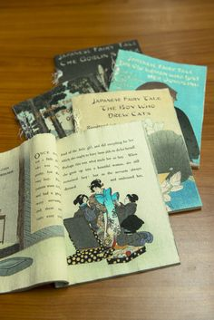 Chirimen-bon—books of crepe paper washi printed with illustrations and text in European languages—were popular souvenirs among foreign visitors after Japan's opening.