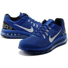 http://www.asneakers4u.com/ 2013 Nike air max cheap mens shoes blue white 40 47 Sale Price: $67.40