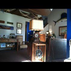 Nautical theme living room.