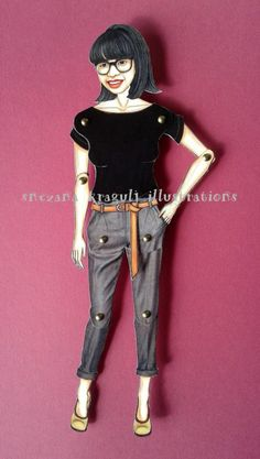 Custom Articulated Paper DollPersonalizedMade to by katyandthecat