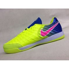 ffbacc04934e9 chaussure foot salle Nike Tiempo Legend VII IC Jaune Bleu Rose achat en  ligne