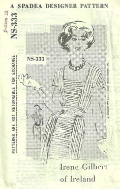 Spadea  333 Vintage Designer Sewing Pattern by studioGpatterns, $18.50