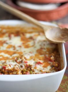 Find Southwestern Lentil and Brown Rice Bake and other creative recipes at A Cookbook Obsession