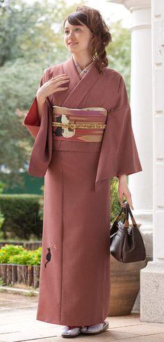 Cat found Agen komon set bright moon | Kimono Yamato Online Shop kimono play net.