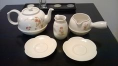 Rare Versatone B353WI8 Noritake Orient Kiseto Tea Pot Creamer Plates 5 Pcs