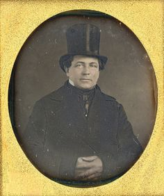 Gent in Top Hat, daguerreotype