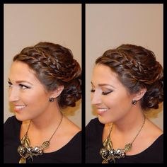 Bridal hair and makeup, braided updo, tons of braids and curls weaved into a soft low bun, soft neutral toned makeup, soft contrast in crease with sharp liner and lashes, pinky tan lip, Amber Heater, Gorgeous Salon, Salisbury, MD, (410)677-4675