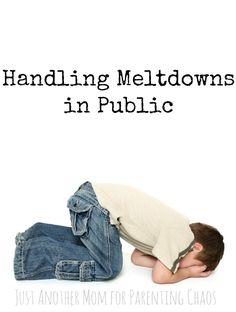 Handling Meltdowns in Public