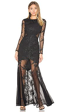 062f91fcd5e Shop for Donna Mizani Embroidered Mermaid Gown in Black at REVOLVE.