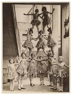 Child performers, Sydney Showground, c. 1920s-30s / by Sam Hood. State Lib. of NSW collection.