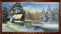Краюшкина _ зимний домик у озера
