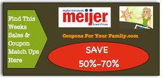 Meijer 2 Day Sale May 1 - 2:  $0.13 Bananas, $0.55 Chobani Greek Yogurt, $1.00 Kelloggs Pop Tarts and more : #GroceryStores, #Meijer, #Stores Check it out here!!