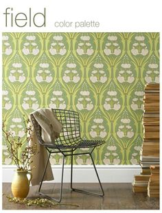 Amy Butler Designs - Love this wallpaper... plus she has fantastic organic bedding.  Check her out:  www.amybutlerdesign.com