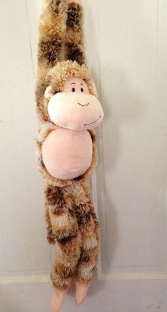 Animal Alley Plush 36 Inch Hanging Monkey Stuffed Animal Beige Brown Velcro Hands by Animal Alley,