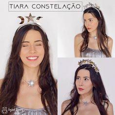 Tiara Constelação para você brilhar no Carnaval.