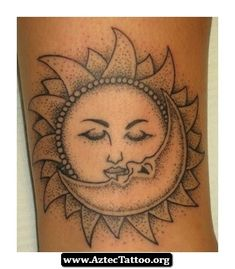 aztec sun and moon images - Google Search