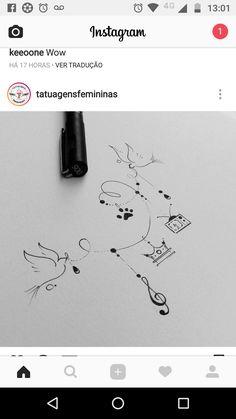 Change a few things hanging. - Change a few things hanging. Mini Tattoos, Flower Tattoos, Body Art Tattoos, Small Tattoos, Easy Drawings, Tattoo Drawings, Ying Y Yang, Music Tattoo Designs, Tattoo Music