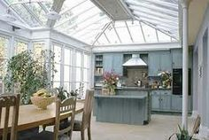 Top Remodel Conservatory Windows for Your Home, Apartment on A Budget Greenhouse Kitchen, Conservatory Kitchen, Conservatory Design, Conservatory Extension, Orangerie Extension, Gazebos, Glass Extension, Extension Ideas, Sweet Home