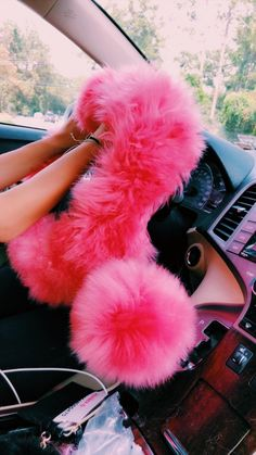 See more of content on VSCO. Car Interior Accessories, Car Accessories For Girls, Pink Car Interior, Fancy Cars, Cute Cars, Car Steering Wheel Cover, Girly Car, Car Essentials, Car Gadgets