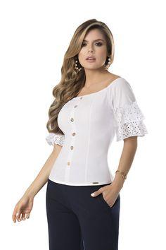 BLUSA TAY DEL CATALOGO DE ROPA TYT 38419 (copia) Fashion Dresses, Princess, Blouse, Beautiful, Women, Outfits, White Blouses, Godmother Dress, Fashion Clothes
