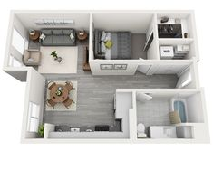 View stylish apartment floor plans, pricing and availability at CityLine apartments in Seattle. Studio Apartment Floor Plans, Apartment Plans, Apartment Design, Small Apartment Layout, 1 Bedroom Apartment, Sims 4 House Building, Sims House Plans, Modern House Plans, Cottage Floor Plans