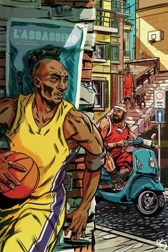 Kobe Bryant L'Assassino Illustration – Hooped Up Basketball Tumblr, Basketball Drawings, I Love Basketball, Basketball Posters, Basketball Legends, Nba Basketball, Basketball Couples, Basketball Boyfriend, Basketball Cupcakes