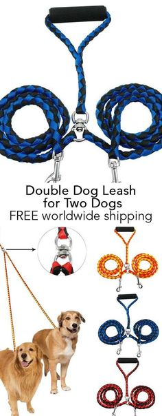 Double Dog Leash for Two Dogs