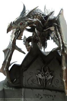 Skyrim.  Alduin the World Eater Dragon Cake!  Amazing detail!