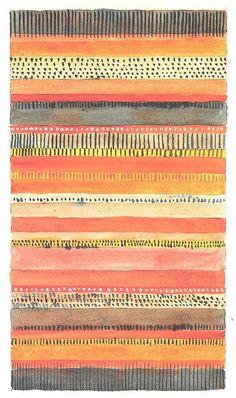 """Gunta Stölzl - Bauhaus Master; Design for a Carpet 30.8 x 21.8 cm Signed above right """"Stölzl"""" bottom left: """"Bettvorleger 65x100"""" bottom right: """"gewebter Teppich"""" Museum für Kunst un Gewerbe, Hamburg"""
