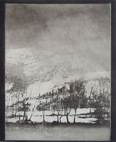 Norman Ackroyd - 'Cartmel in Winter' - DAVID CASE FINE ART