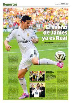Deportes / Real Madrid / James / Deseos / Diseno / Diagramacion / Diseno Editorial / Galactico / Rodriguez / James Rodriguez / La Republica