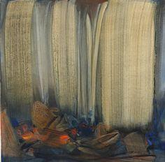 Chu Teh-Chun (Chinese-French, 1920-2014), Premières lueurs [First Light], 1998. Oil on canvas, 130 x 130 cm.