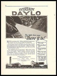 Eveready Daylo Flashlight 1917 Ad Hardware Tools Accessories Advert