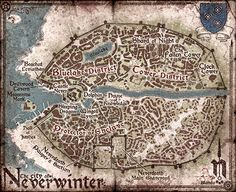 Map of the City of Neverwinter