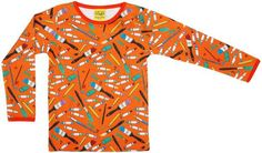 DUNS Sweden organic cotton top ARTY/MANDARIN