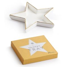 Holy hell, I adore these!  White & Gold Star Trinket Tray