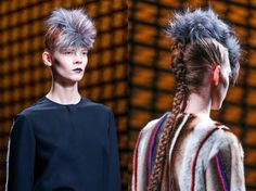 Looking at #Givenchy #Fendi #Ashish and #Thakoon for this up-and-coming #punk #hair #trend