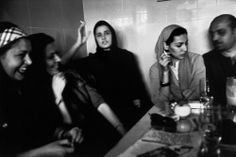 "bellemer: "" Tehran, Iran. June 2001. Inside a fashionable coffee house. Photo by "" Abbas / Magnum "" """