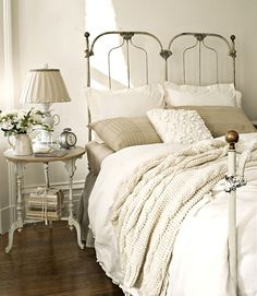 winter bed perfection @Centsational Blog Blog Girl love the sweater type throw
